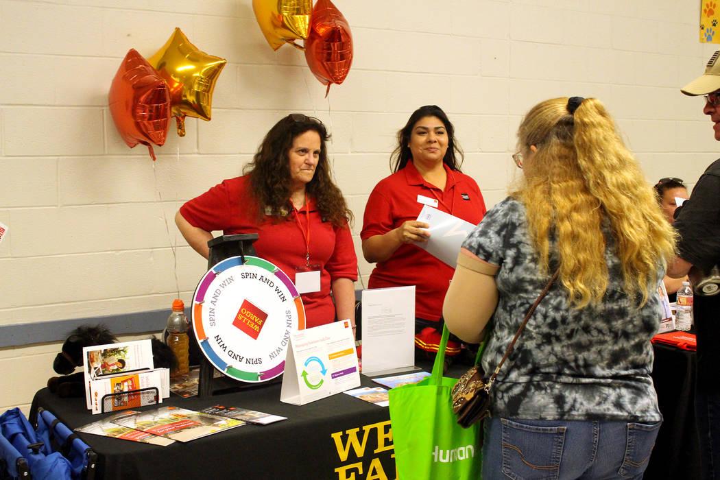Jeffrey Meehan/Pahrump Valley Times Wells Fargo was one of more than three dozen vendors to set ...