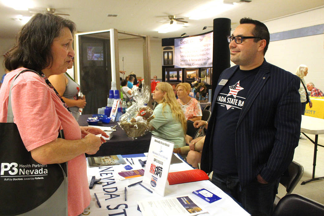 Jeffrey Meehan/Pahrump Valley Times A long list of business sectors set up shop at Pahrump Vall ...