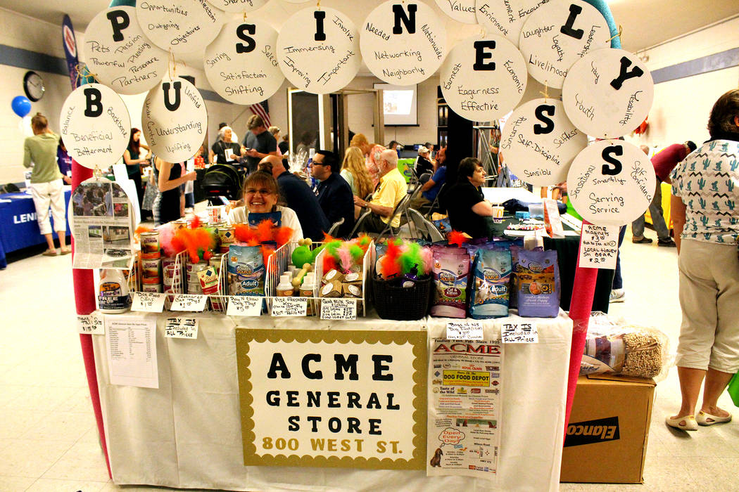 Jeffrey Meehan/Pahrump Valley Times Acme General Store set up a booth at the Pahrump Valley Cha ...
