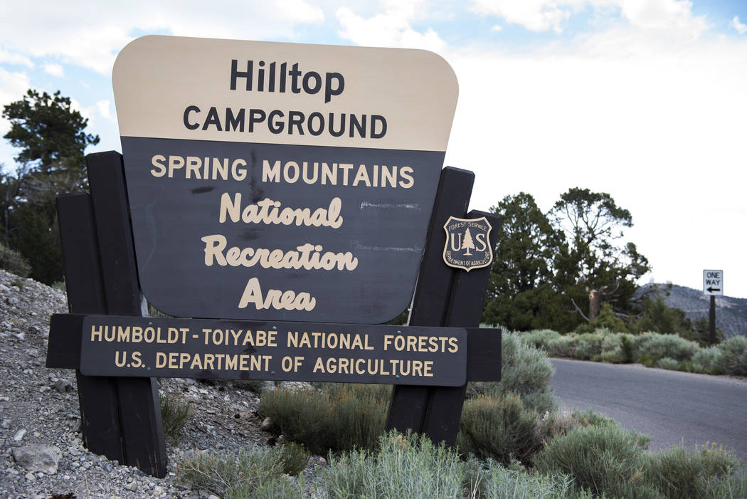 Hilltop Campground is seen at the Spring Mountains National Recreation Area near Mount Charlest ...