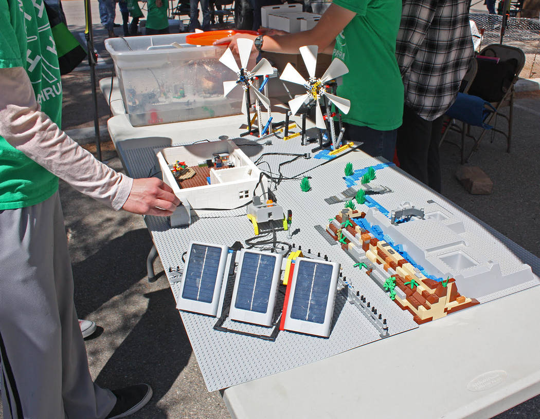 Robin Hebrock/Pahrump Valley Times The 4H Lego League is very active, with members putting toge ...