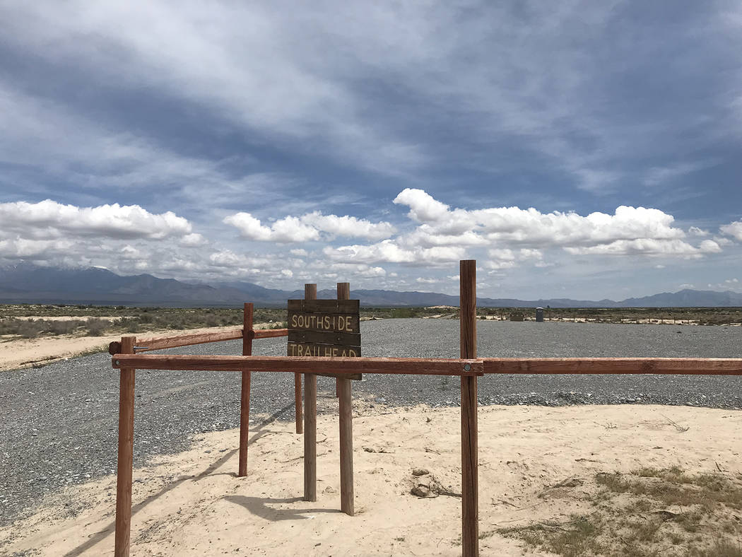 Special to the Pahrump Valley Times The newly established Southside Trailhead now provides a sa ...