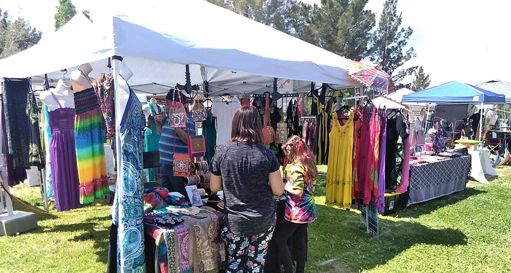 Selwyn Harris/Pahrump Valley Times Upwards of a dozen vendors, many from Pahrump participated i ...