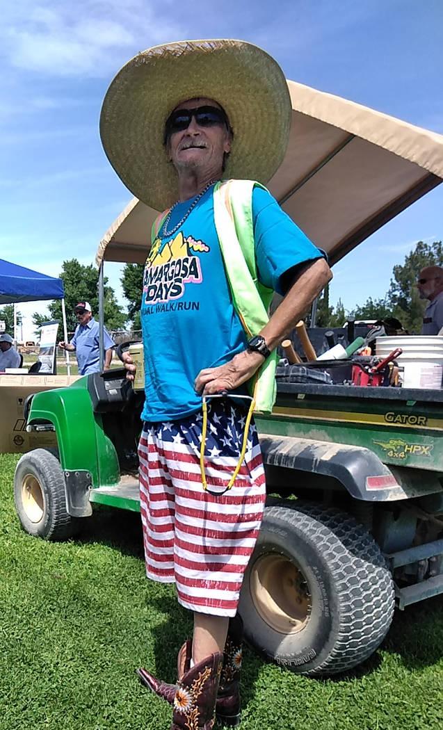 "Selwyn Harris/Pahrump Valley Times Amargosa Valley resident James Gitzlaff, 63, also known as "" ..."