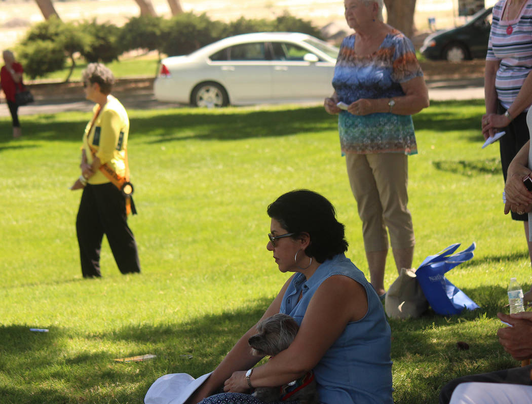 Jeffrey Meehan/Pahrump Valley Times Crowd members attended the 16th annual Celebration of Life ...