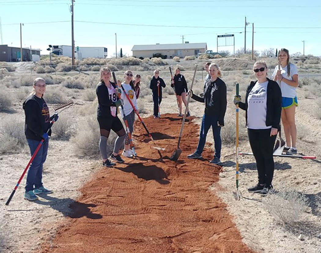 Special to the Pahrump Valley Times Members of Pahrump Valley High School's National Honor Soci ...