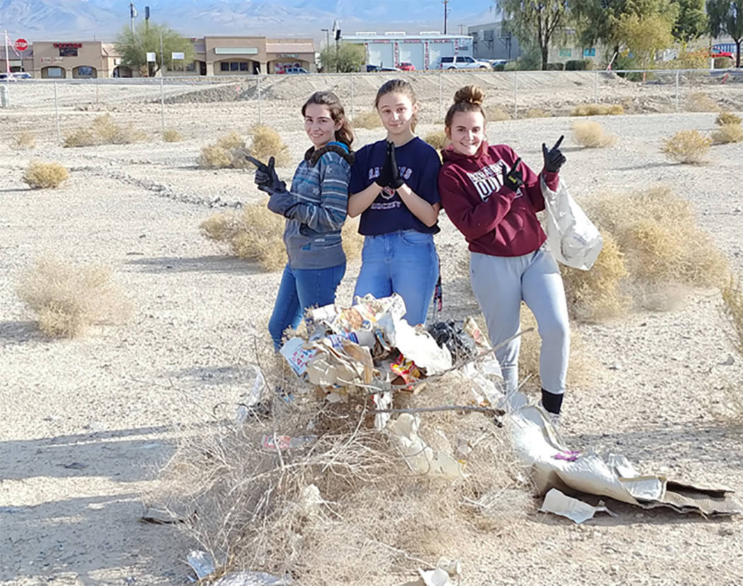 Special to the Pahrump Valley Times Pahrump Valley High School National Honor Society students ...