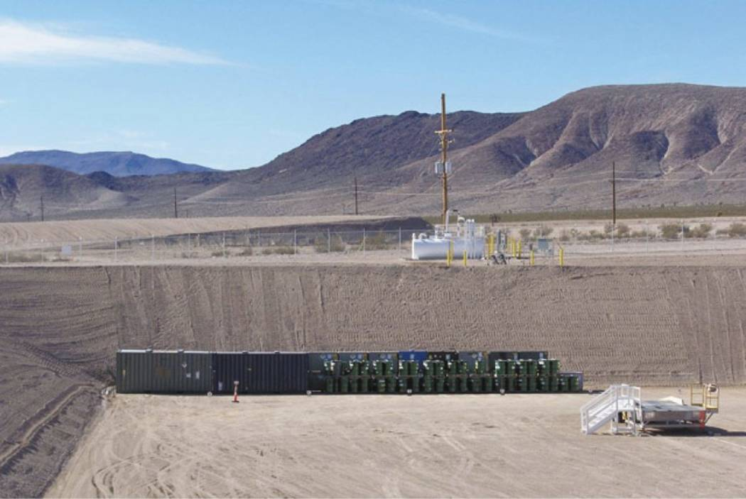 Photo courtesy U.S. Department of Energy A half-ton was shipped to the Nevada National Securit ...