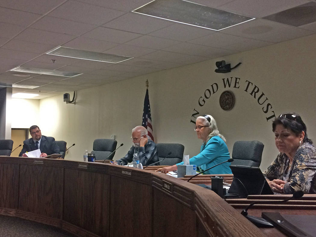 Robin Hebrock/Pahrump Valley Times The Nye County Commission approved its tentative budget for ...