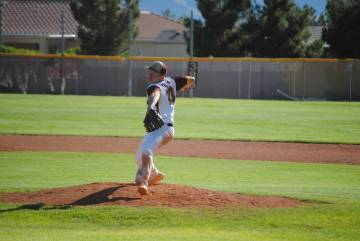 Charlotte Uyeno/Pahrump Valley Times Pahrump Valley's Cyle Havel recorded 5 strikeouts in 2 inn ...