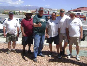 Mike Norton/Special to the Pahrump Valley Times From left, Dave Barefield, who finished third i ...