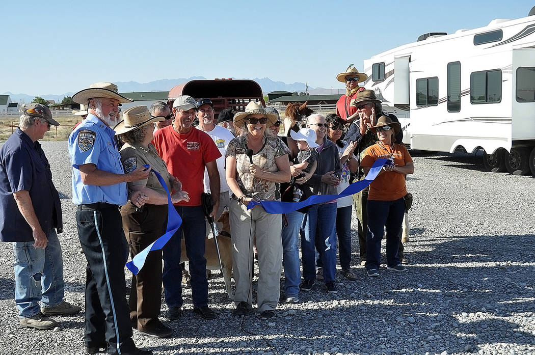 Horace Langford Jr./Pahrump Valley Times - Nye County and Pahrump officials, along with various ...