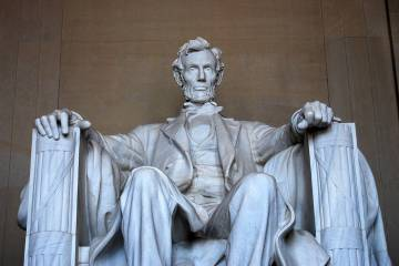 Getty Images A look at Lincoln Memorial in Washington, D.C. Nevada came into the union on Oct. ...
