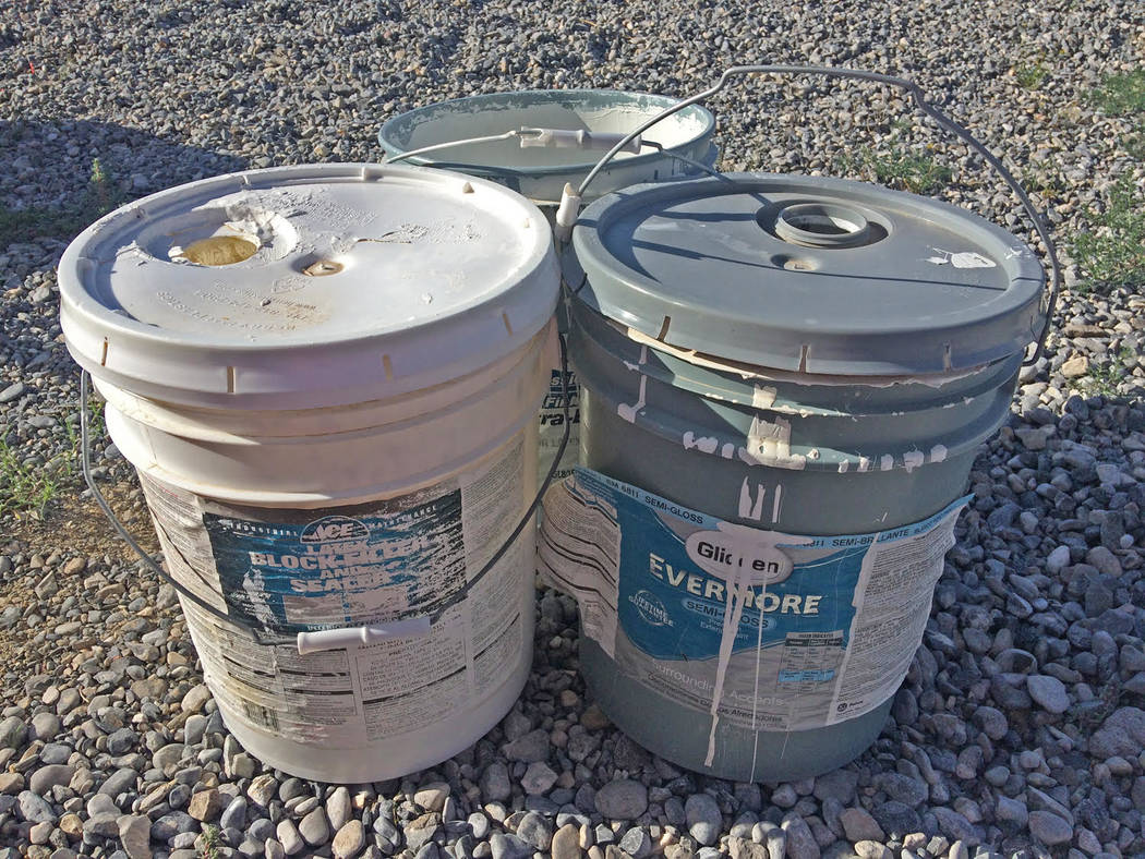 Robin Hebrock/Pahrump Valley Times Old paint is just one of the many items that will be accepte ...