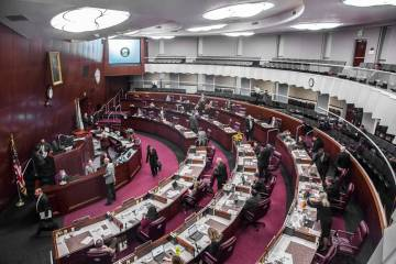 Assembly chambers at the Nevada Legislature. (Benjamin Hager/Las Vegas Review-Journal) @benjami ...