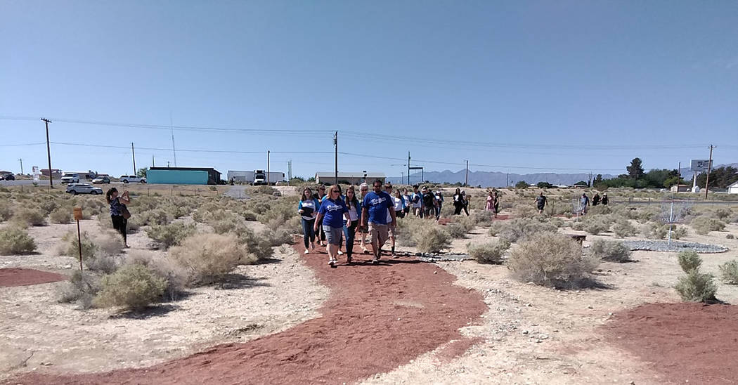 Selwyn Harris/Pahrump Valley Times A delegation of Pahrump Valley High School National Honor So ...