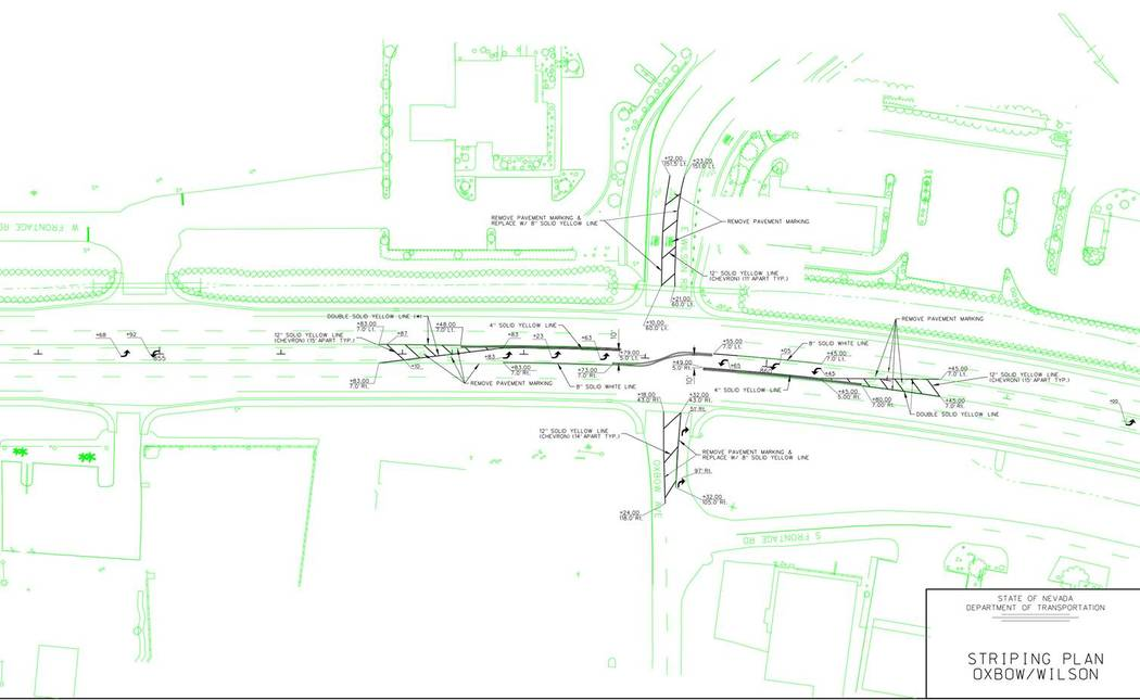 Nevada Department of Transportation A diagram of a project involving the instillation of an S-c ...