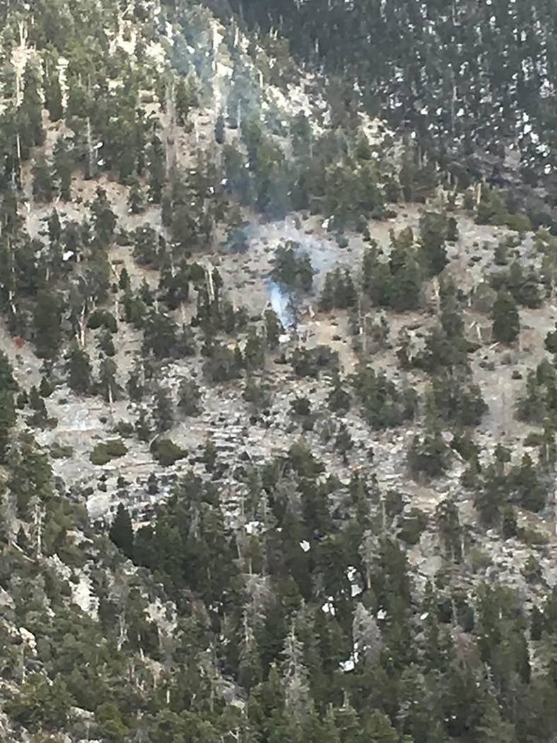 U.S. Forest Service The Graham Fire was approximately two miles south of Charleston Peak in Car ...