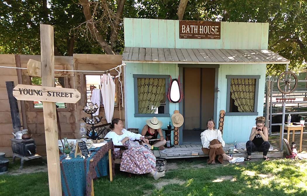 Selwyn Harris/Pahrump Valley Times An Old West boom town replica, melodramas, and shotgun weddi ...