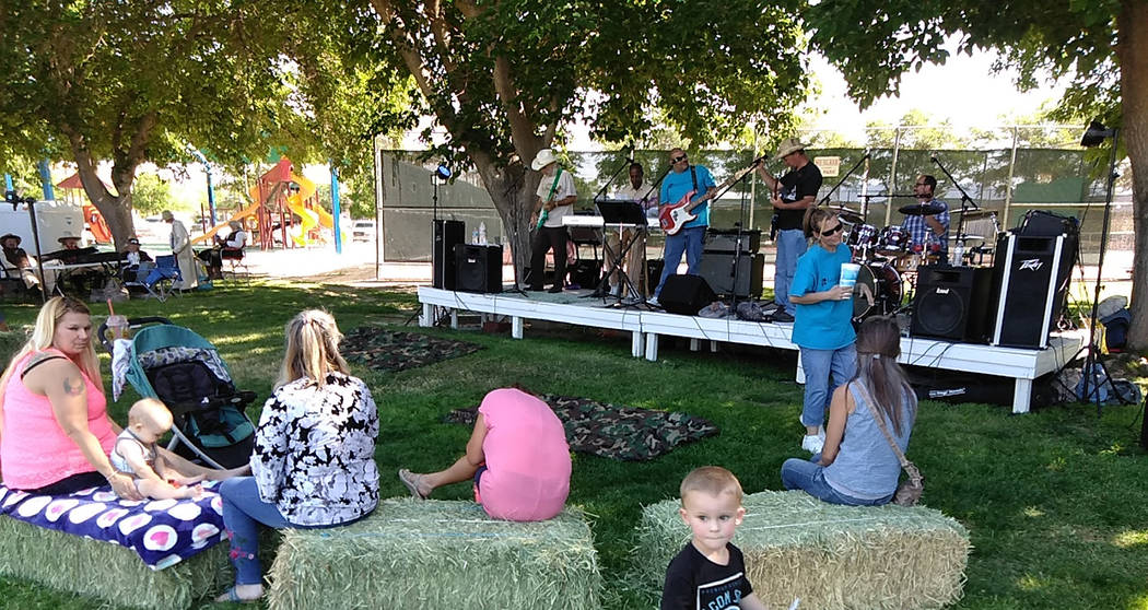 Selwyn Harris/Pahrump Valley Times Consisting of a group of five Christian musicians, the local ...