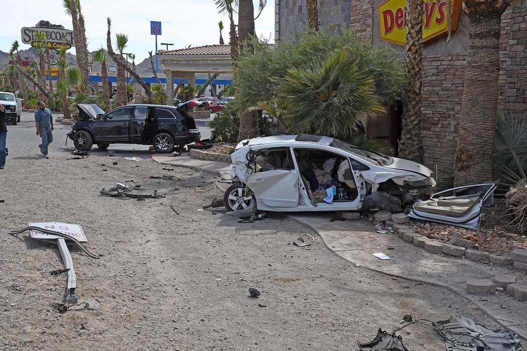 Richard Stephens/Special to the Pahrump Valley Times At least two people were transported by fl ...