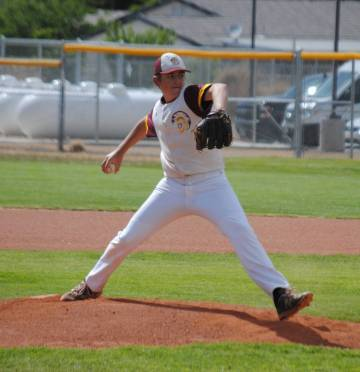Charlotte Uyeno/Pahrump Valley Times Sophomore pitcher Jake Riding allowed 2 hits over 6 inning ...