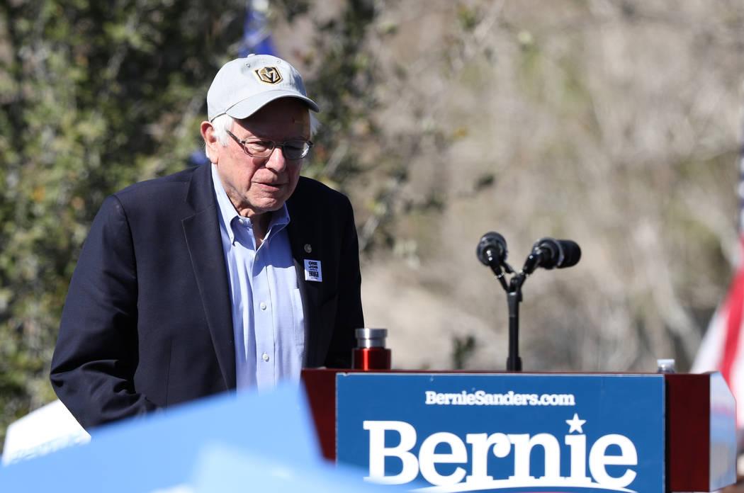 Heidi Fang/Las Vegas Review-Journal Democratic presidential candidate Sen. Bernie Sanders makes ...