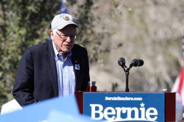 Heidi Fang/Las Vegas Review-Journal Democratic presidential candidate Sen. Bernie Sanders makes ...