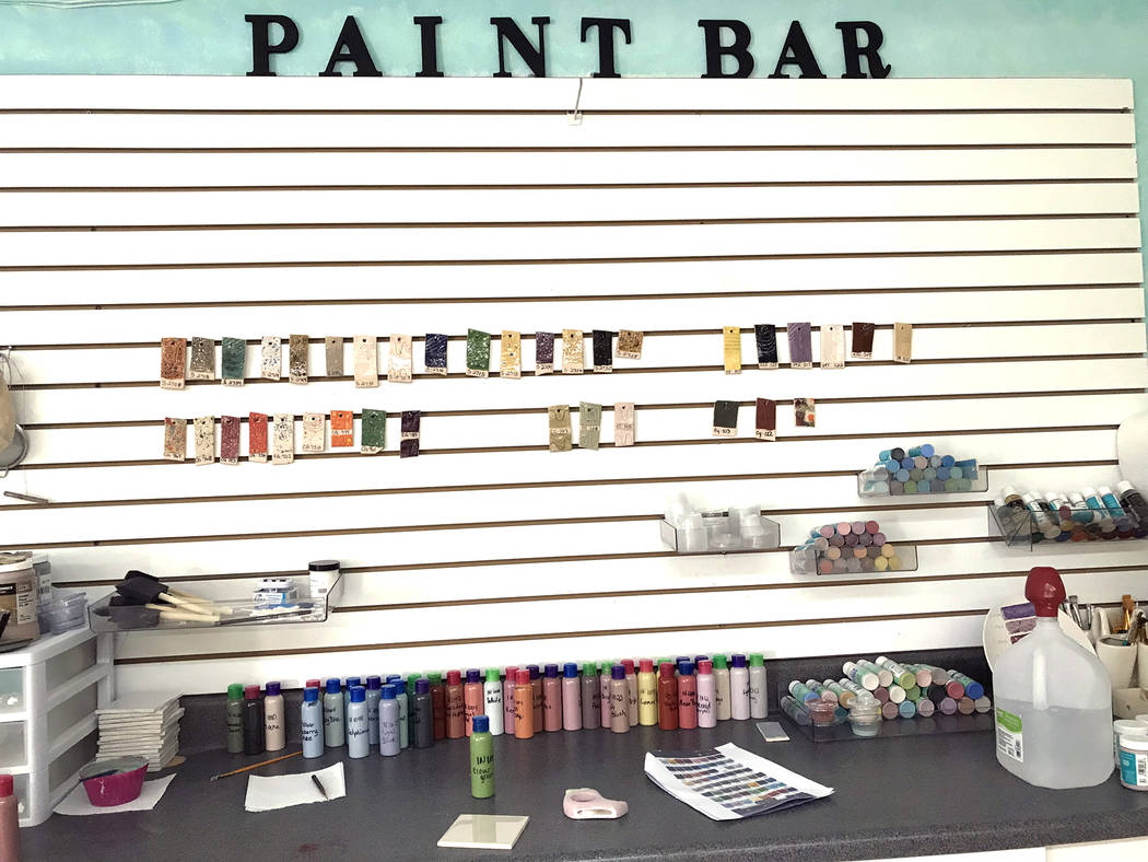 Jeffrey Meehan/Pahrump Valley Times Clients of All Glazed Up in Pahrump can choose their color ...