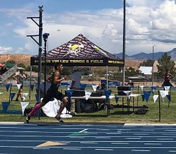 Ashley Anderson/Special to the Pahrump Valley Times Beatty junior Jose Granados set meet record ...