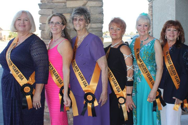 Robin Hebrock/Pahrump Valley Times Pictured are the 2018 contestants for the Ms. Senior Golden ...