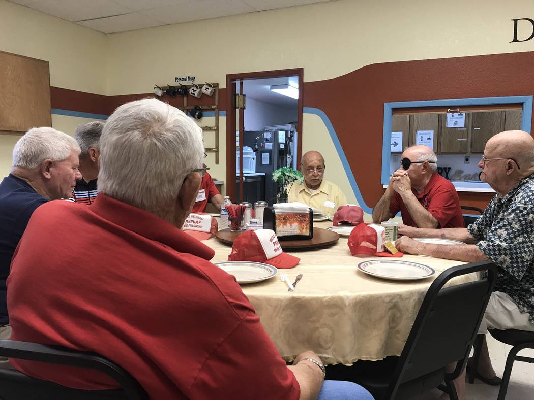Jeffrey Meehan/Pahrump Valley Times The Pahrump Valley United Methodist Men meet at the Pahrump ...