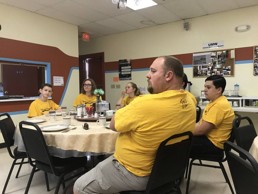 Jeffrey Meehan/Pahrump Valley Times The Pahrump Valley High School Circuit Breakers attended th ...