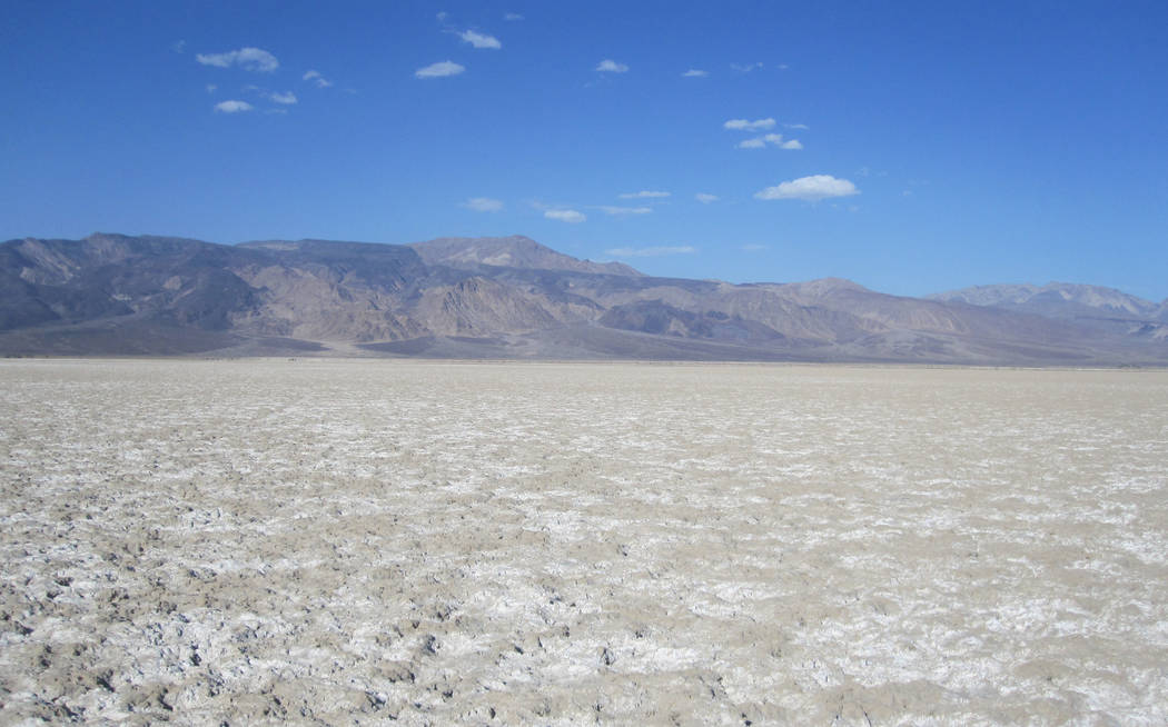 An undated photo shows once-private land in Saline Valley that was recently added to DeathVal ...