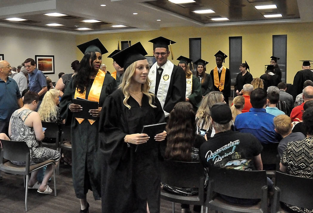 Horace Langford Jr./Pahrump Valley Times Great Basin College graduation Saturday