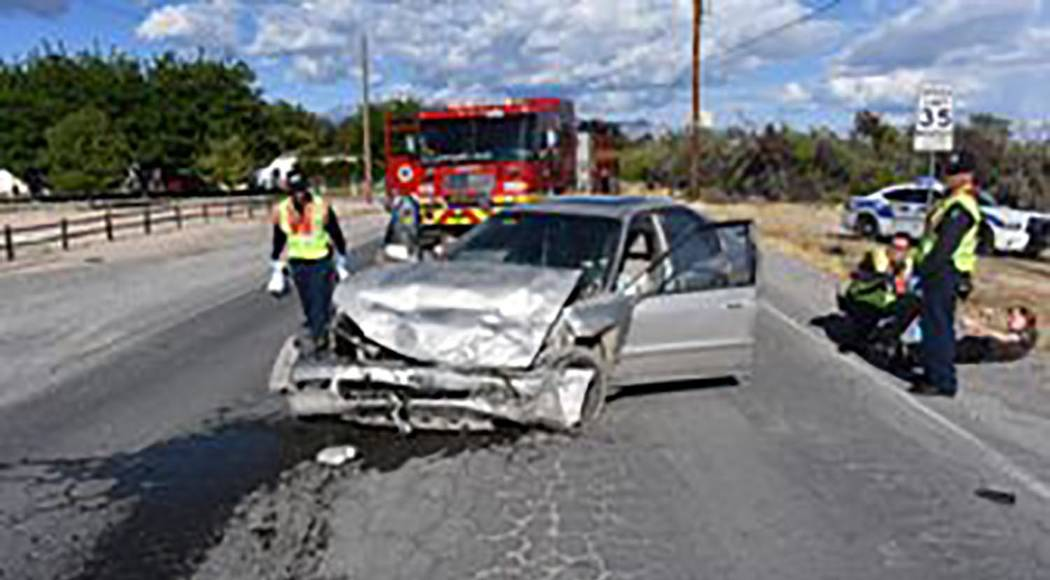 Special to the Pahrump Valley Times Two people were transported to Desert View Hospital followi ...