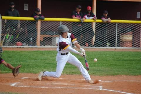 Charlotte Uyeno/Pahrump Valley Times Pahrump Valley senior second baseman Joey Koenig was chose ...