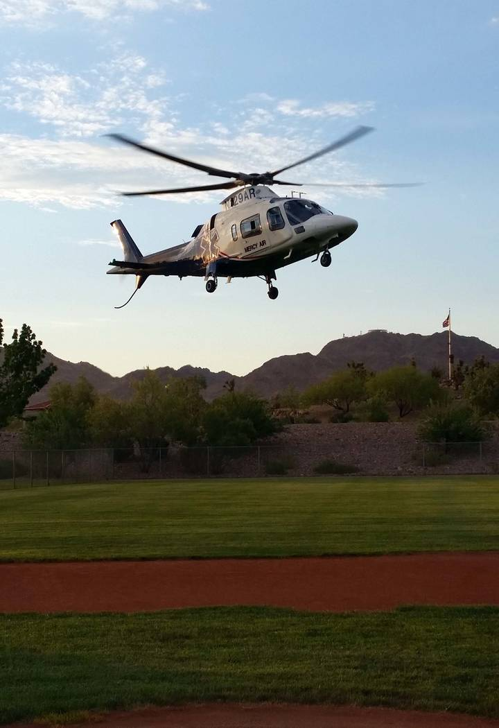 Celia Shortt Goodyear/Boulder City Review A Mercy Air helicopter as shown on a file photo taken ...