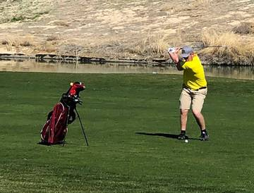 Tom Rysinski/Pahrump Valley Times Pahrump Valley junior Koby Lindberg, shown earlier this seaso ...