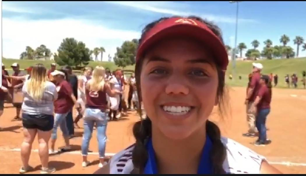 Tom Rysinski/Pahrump Valley Times video screenshot Kaden Cable went 4-for-4 with seven RBIs and ...