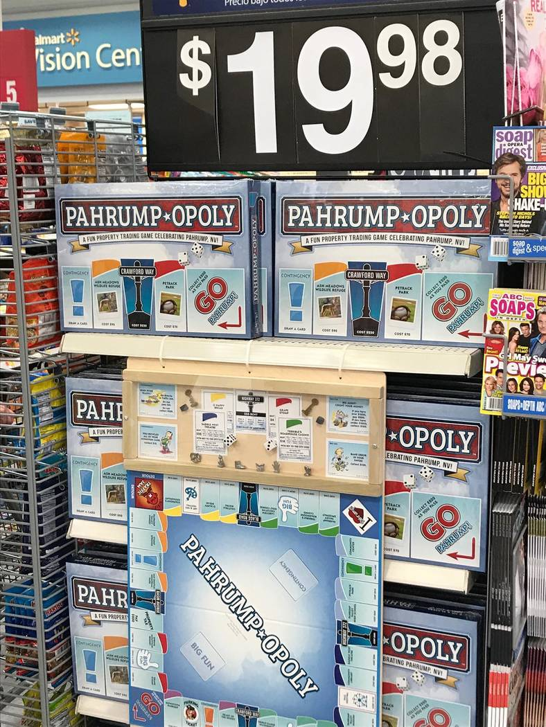 Heather Ruth/Pahrump Valley Times Pahrump-Opoly, a board game based on the original Monopoly, a ...