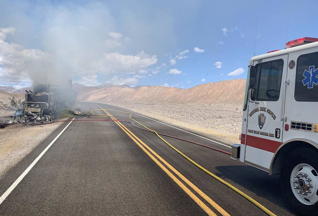 Death Valley National Park The driver, a 44-year-old man from El Cajon, California, was transpo ...