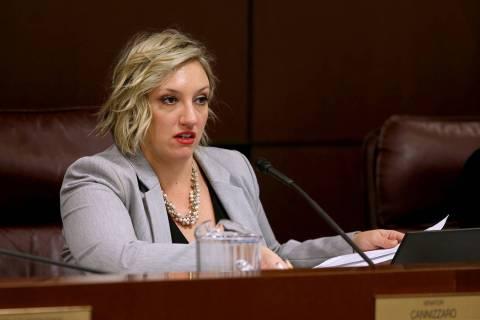 K.M. Cannon/Las Vegas Review-Journal Senate Majority Leader Nicole Cannizzaro, D-Las Vegas, pre ...