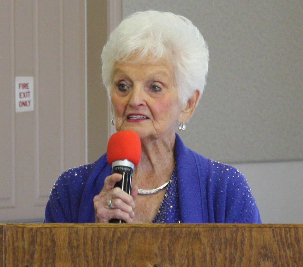 Robin Hebrock/Pahrump Valley Times Ms. Senior Golden Years founder B.J. Hetrick-Irwin.