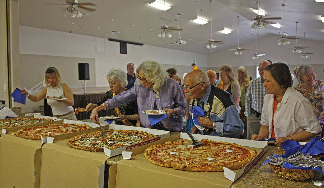 Robin Hebrock/Pahrump Valley Times Enormous pizzas from Big Dick's Pizzeria, two of which the r ...