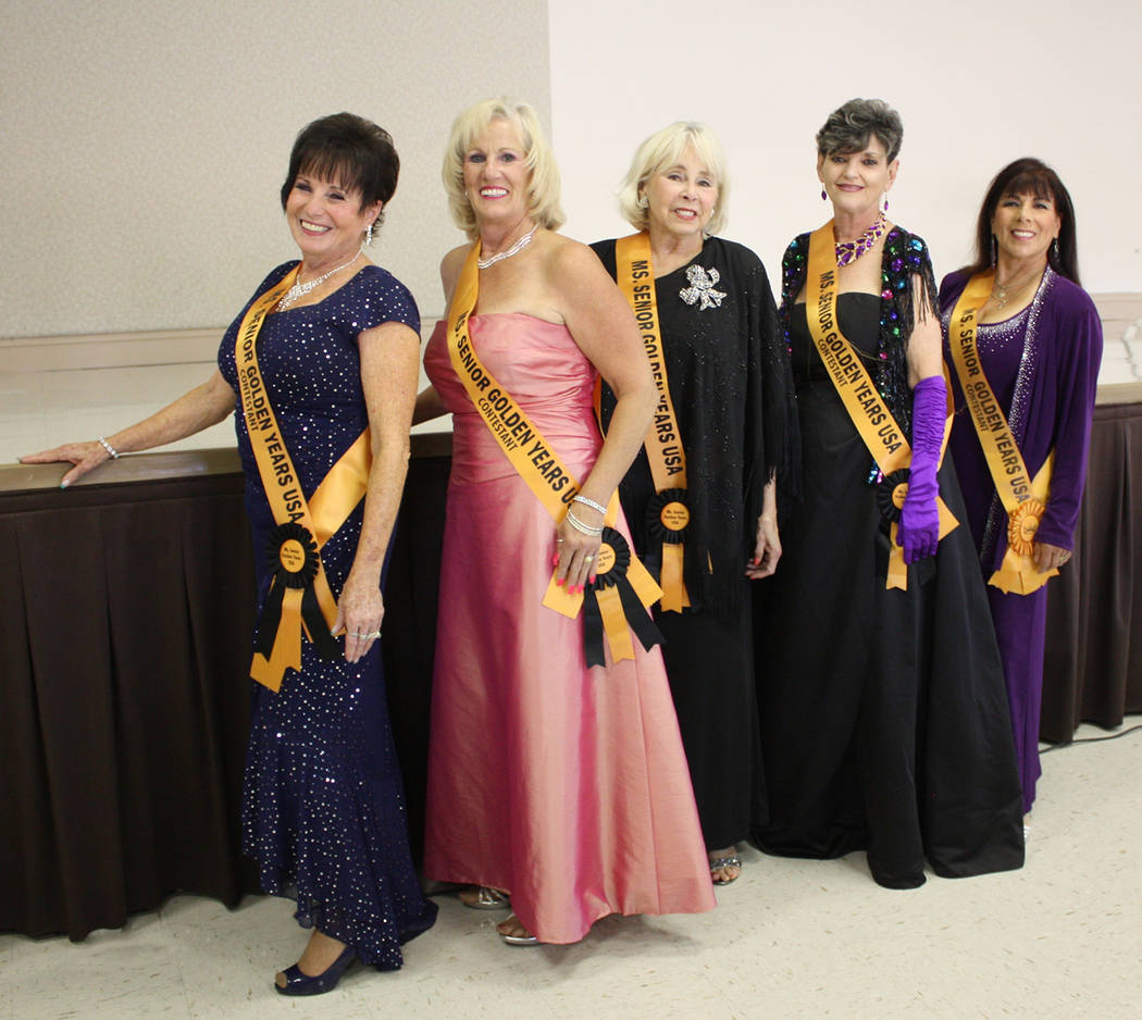 Robin Hebrock/Pahrump Valley Times Pictured from left to right are 2019 Ms. Senior Golden Years ...