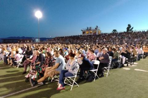 Selwyn Harris/Pahrump Valley Times Hundreds of family and friends turned out for Friday's gradu ...