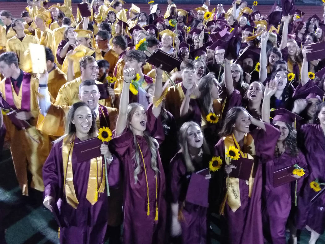 Selwyn Harris/Pahrump Valley Times A total of 236 Pahrump Valley High School seniors earned the ...