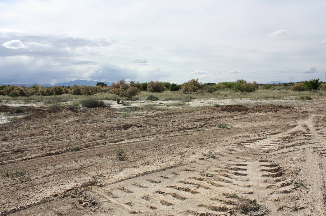 Robin Hebrock/Pahrump Valley Times The vast 18 acres of land that currently sits vacant will so ...