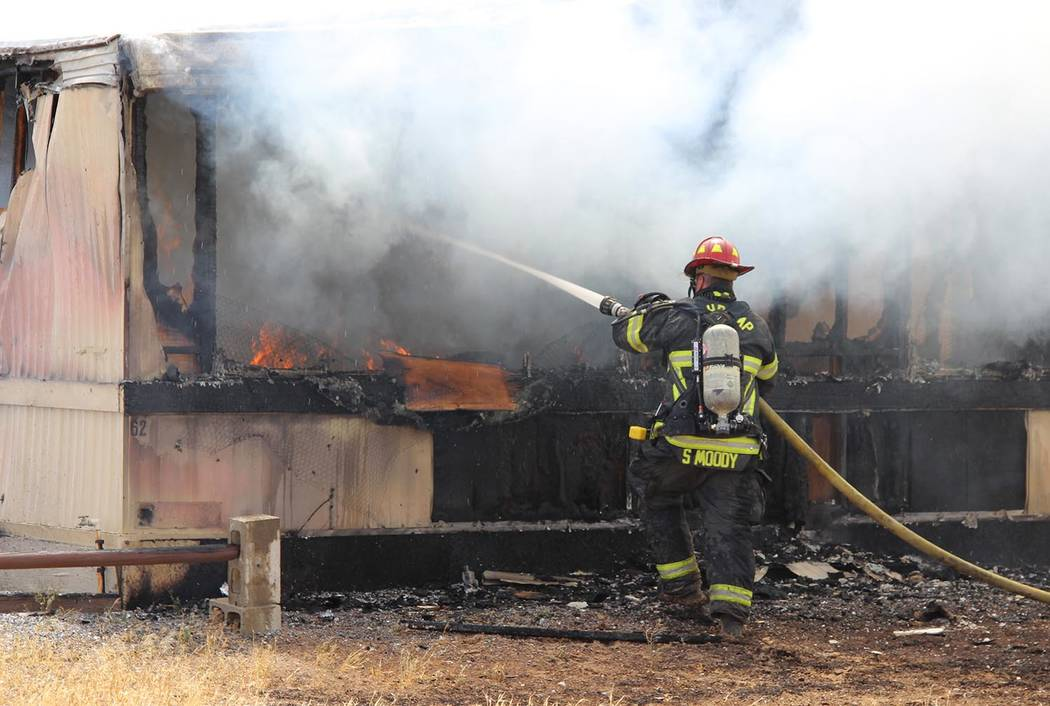 Charles Hoover/Special to the Pahrump Valley Times Three pet dogs in a bedroom of the home died ...